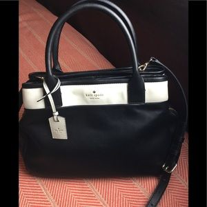 Kate Spade navy & white leather crossbody
